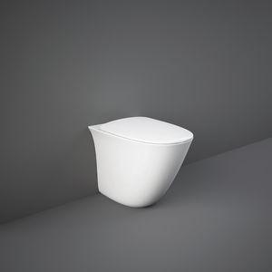 WC da appoggio / in ceramica / senza brida