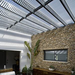 copertura vetrata in alluminio