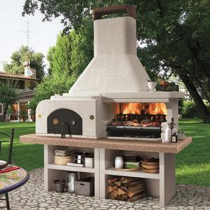 barbecue a carbonella / a legna / fisso / in acciaio