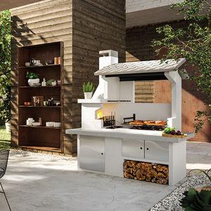 barbecue a carbonella / a legna / fisso / in calcestruzzo