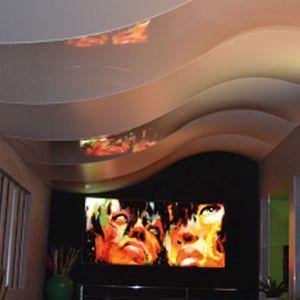 soffitto teso in tessuto / in pannelli / decorativo / a colori