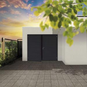 porte battenti per garage / in acciaio / in schiuma di poliuretano / manuali