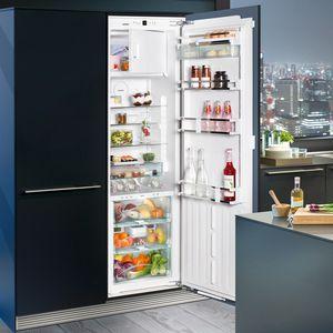 frigorifero per uso residenziale / ad armadio / bianco / nero