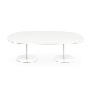 tavolo da riunione moderno / in MDF / in acciaio cromato / in acciaio laccato