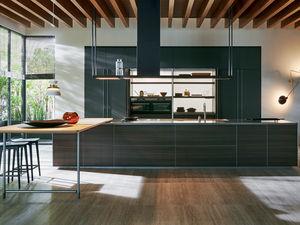 cucina moderna / in vetro / in quercia / in olmo