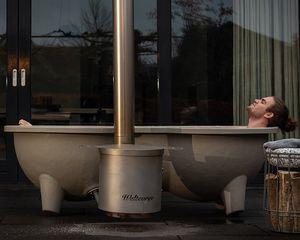 vasca per bagni caldi all'aperto in fibra di vetro / in acciaio inossidabile / per uso residenziale