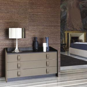 cassettone moderno / in legno / in pelle / di Carlo Colombo