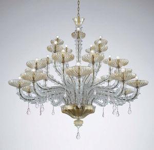 lampadario classico / in vetro di Murano / in vetro soffiato / in metallo
