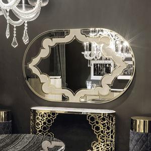 specchio a muro / moderno / ovale / in metallo