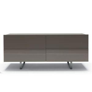 cassettone moderno / in legno laccato / di Mauro Lipparini / grigio