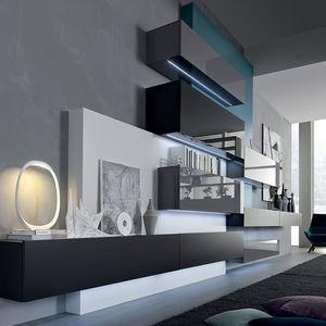 parete attrezzata per soggiorno moderna