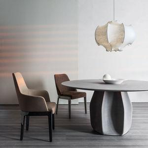 sedia moderna / con rivestimento rimovibile / imbottita / con braccioli