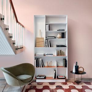 libreria alta / a muro / moderna / in olmo