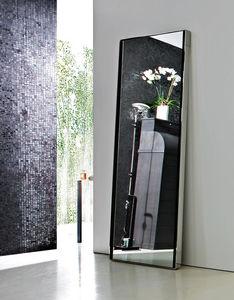 specchio a muro / moderno / rettangolare / in acciaio