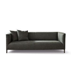 divano compatto / moderno / in pelle / in tessuto