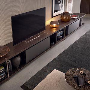 mobile porta TV moderno / impiallacciato in legno / di Jean-Marie Massaud