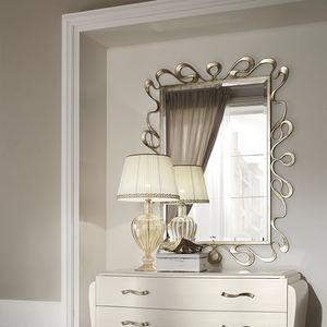 specchio a muro / sospeso / in stile / rettangolare
