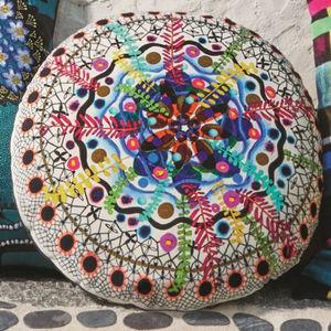 cuscino tondo / a motivi / multicolore