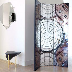 paravento moderno / in MDF / con specchio
