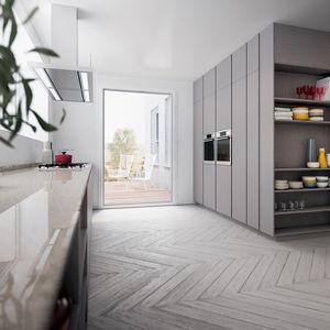 cucina moderna / in quercia / in legno laccato / in noce