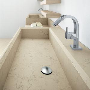 lavabo doppio / da appoggio / rettangolare / in Solid Surface