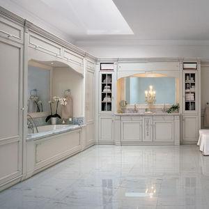 bagno classico / in legno laccato / in marmo