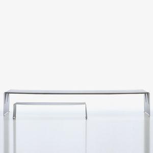 tavolo da pranzo moderno / in alluminio laccato / rettangolare / da giardino