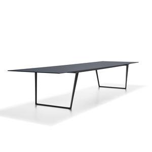 tavolo moderno / in alluminio / in laminato / in pietra naturale