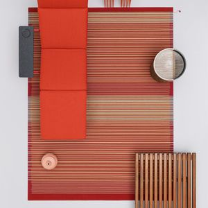 tappeto moderno / a righe / multicolore / in lana della Nuova Zelanda