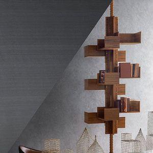 libreria pavimento-soffitto / moderna / in noce / in MDF