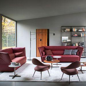 divano moderno / in tessuto / in pelle / in legno