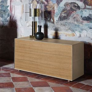 cassettone moderno / in legno / in pelle / di Jean-Marie Massaud