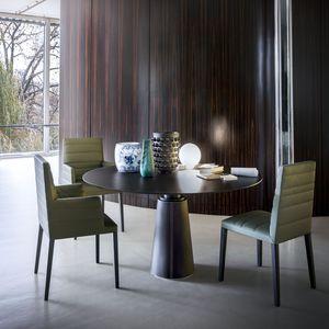 tavolo da pranzo moderno / in frassino / impiallacciato in legno / in MDF