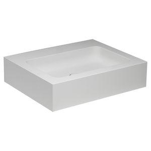lavabo da appoggio / rettangolare / in composito / moderno