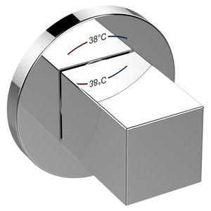 miscelatore per lavabo / da parete / in metallo cromato / termostatico