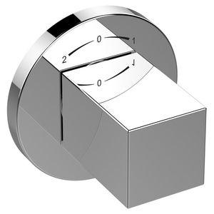 miscelatore per vasca / da parete / in metallo cromato / da bagno