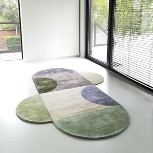 arazzo moderno / a motivi / in lana / personalizzabile