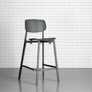 sedia alta moderna / impilabile / alluminio / in polipropilene