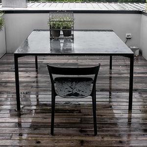 tavolo moderno / in legno / con supporto in legno / rettangolare
