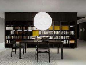 parete attrezzata TV moderno / in legno / in legno laccato / di Piero Lissoni