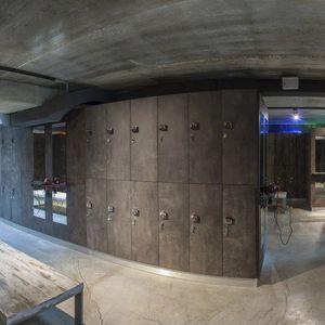 armadietto spogliatoio in legno