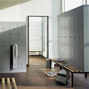 armadietto spogliatoio in acciaio / standard / per edifici pubblici