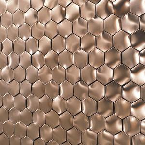 mosaico da interno / da parete / in metallo / esagonale