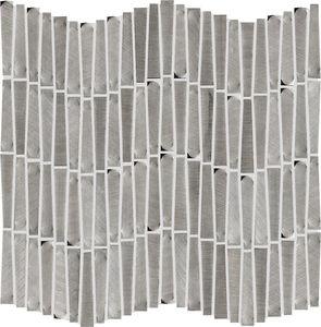 mosaico da interno / da parete / in alluminio / rettangolare