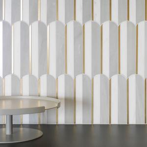 mosaico da interno / da parete / in pietra naturale / in metallo