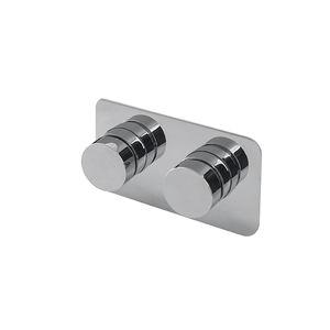 miscelatore doppio comando per vasca / da parete / in metallo cromato / termostatico