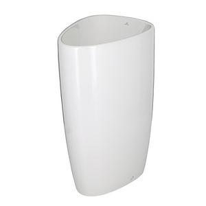 lavabo da terra / in ceramica / moderno / contract