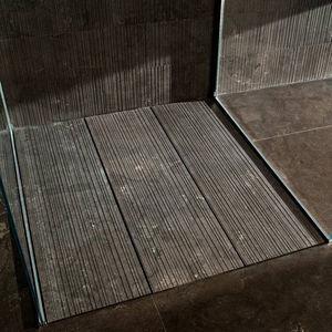 piatto doccia rettangolare / da incasso / in pietra naturale / antiscivolo