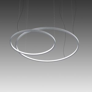 luce a sospensione / LED / tonda / in alluminio