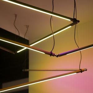 luce a sospensione / LED / lineare / in alluminio anodizzato